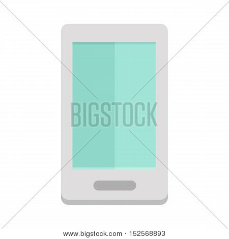 Tablet computer in flat isolated on white background. Touch screen tablet PC sign icon. Vector illustration.