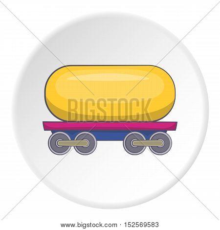 Railroad tank icon. Cartoon illustration of railroad tank vector icon for web