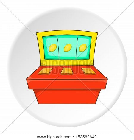 Slot machine icon. Flat illustration of slot machine vector icon for web