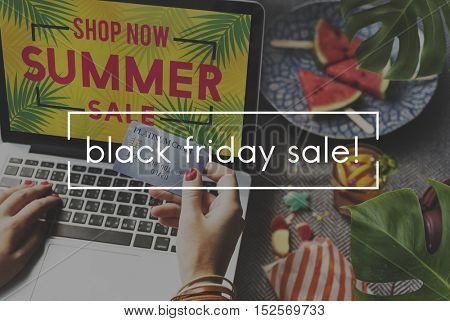 Black Friday Sale Selling Costs Commerce Retail Concept