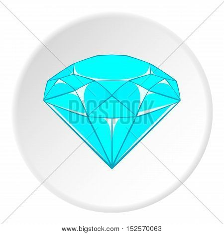 Diamond icon. Cartoon illustration of diamond vector icon for web
