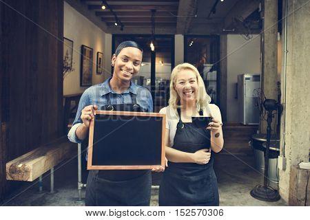 Barista Uniform Restaurant Service Apron Coffee Concept