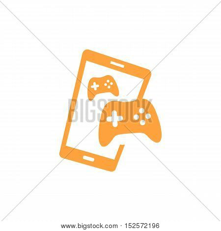 Mobile On line Gaming themed. Smartphone creative design icon