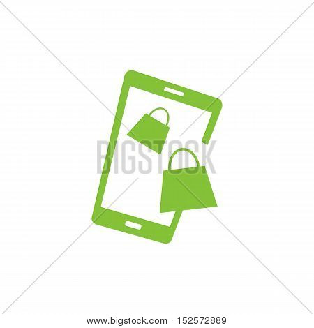 Mobile Shopping Applications  themed. Smartphone creative design icon