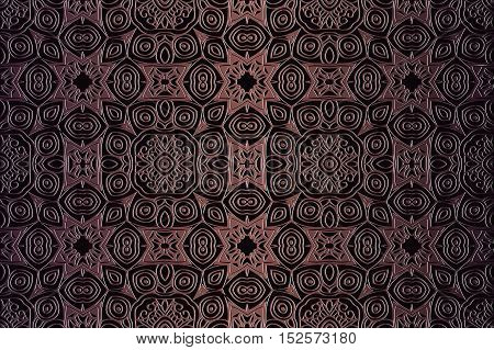 texture dark background abstract embossed symmetrical pattern Victorian style vector illustration