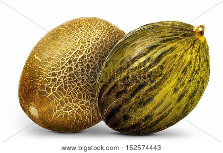 Group of melons isolated on white background.