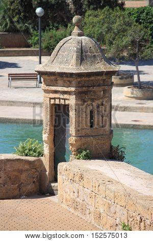 Sentry box at Dalt Murada in Palma de Mallorca, Spain