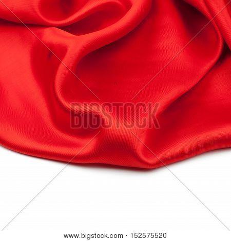 red satin or silk background. studio shot
