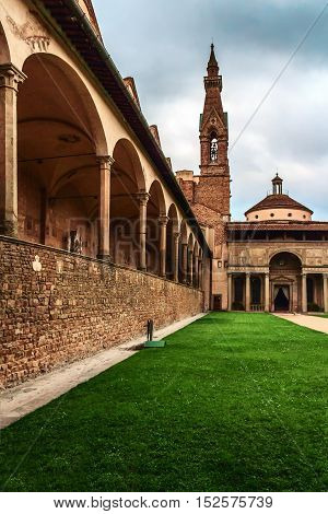 tourist Florence is famous for its magnificent squares bridges and many churches