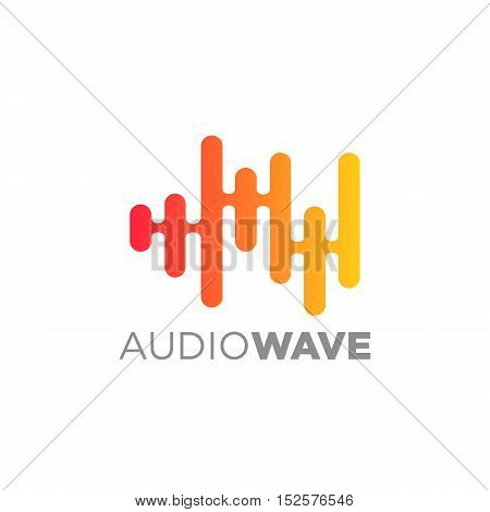 Audio wave logo concept, Multimedia Technology themed, Abstract Shape