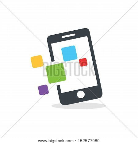 Mobile Applications themed. Smartphone creative design icon