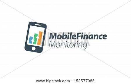 Mobile Financial Applications themed. Smartphone creative design icon