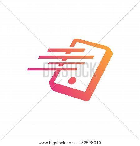 Fast smart phone themed. Smartphone creative design icon