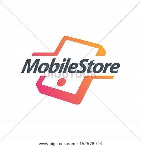 Mobile Accessories Store themed. Smartphone creative design icon