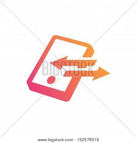 Mobile Networks themed. Smartphone creative design icon
