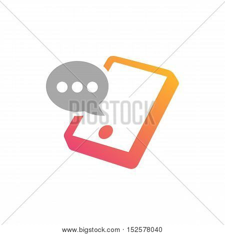 Mobile Chatting Applications themed. Smartphone creative design icon