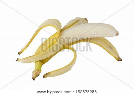 the skin of banana on a white background