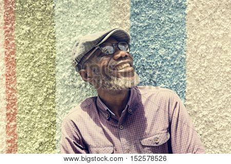 African Man Smiling Lifestyle Portrait Concept