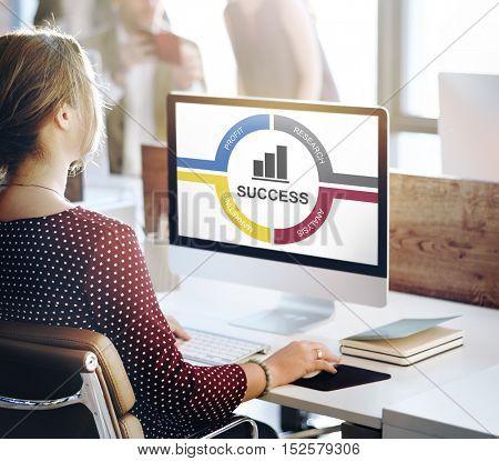Target Achievement Mission Bar Chart Concept