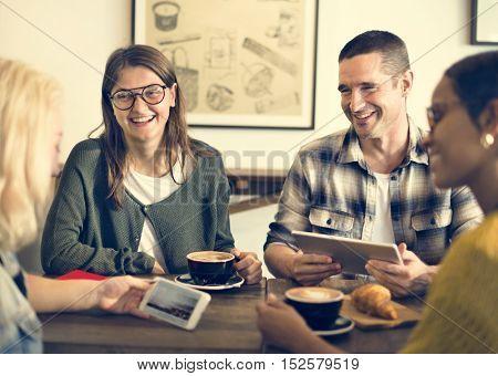 Break Casual Coffee Shop Coworker Cheerful Concept