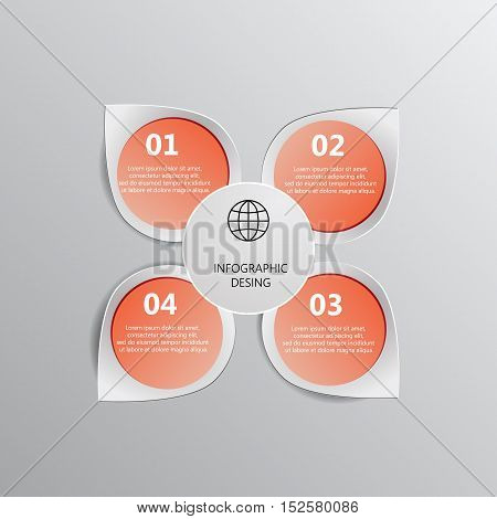 Set Of Paper Banners / Tags For Business Design, Infographics, Step Presentation, Progress, Number O