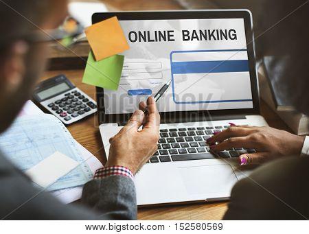 Online Banking Commercial Internet Finance Concept