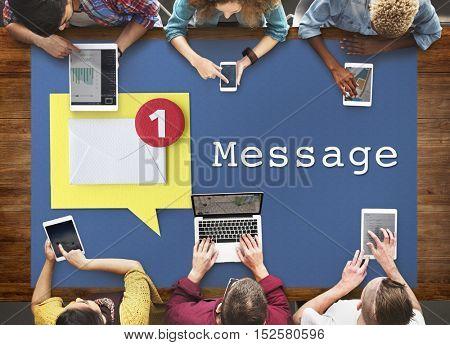 Message Notification Inbox Envelope Concept