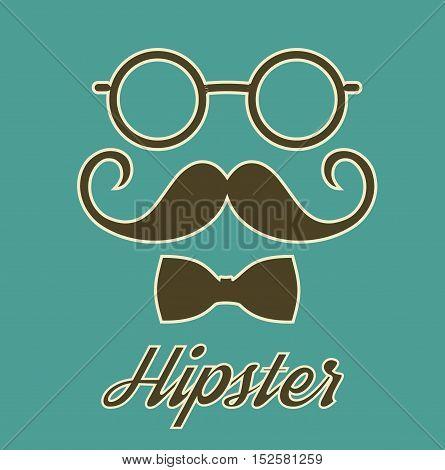 Vintage Hipster Gentleman Poster Card Stock Vector Illustration -