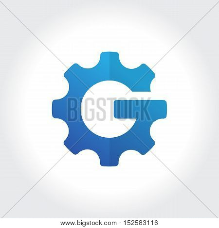Gears initial G symbol. Technology Business illustration