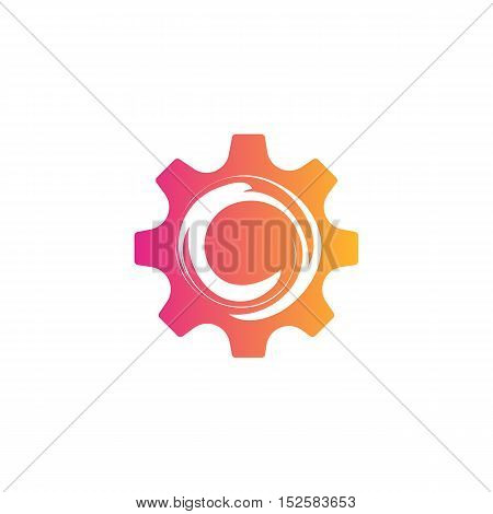 Creative Abstract Gear Symbol. Technology Business illustration