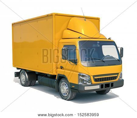 3d render: Delivery Truck Icon on White Background