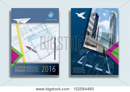 Cover Report Business Colorful  Sky Clouds Geometric pattern Design Background, Cover Magazine, Brochure Book Cover Template, flyer vector illustration, real estate annual report