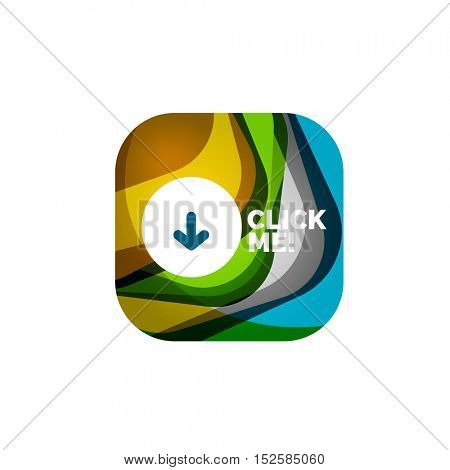 abstract square button template
