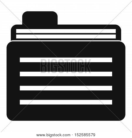 File folder icon. Simple illustration of file folder vector icon for web