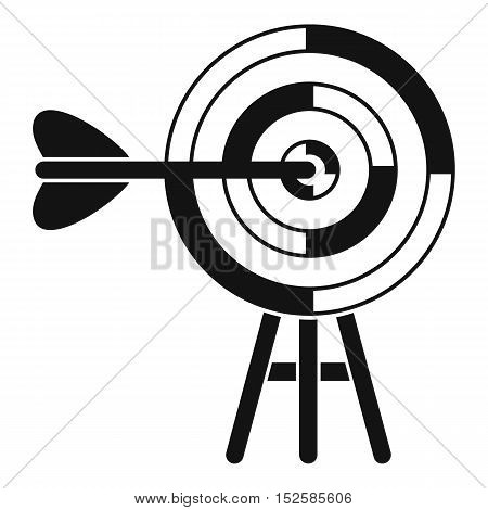 Target with an arrow icon. Simple illustration of target with an arrow vector icon for web