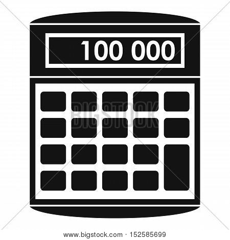 An electronic calculator icon. Simple illustration of calculator vector icon for web