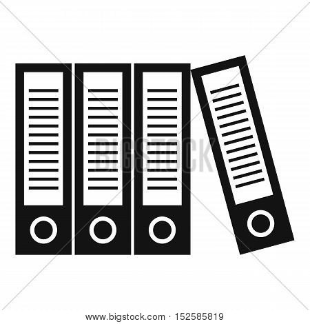 Office folders icon. Simple illustration of office folders vector icon for web