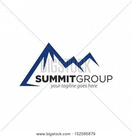 vector illustration of Mountain, Summit, Peak, Nature concept logo
