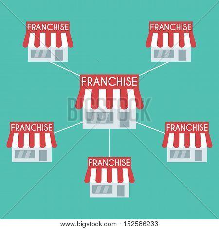 Franchise business concept. Franchise  concept vector .