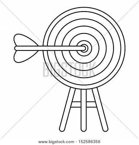 Target icon. Outline illustration of target vector icon for web