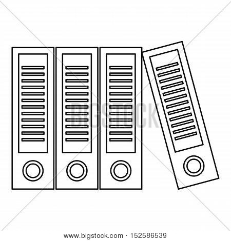 Office folders with documents icon. Outline illustration of office folders vector icon for web