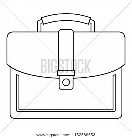 Briefcase icon. Outline illustration of briefcase vector icon for web