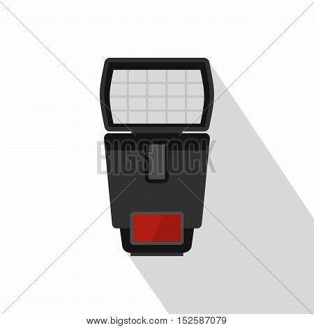 Photo camera flash icon. Flat illustration of photo camera flash vector icon for web isolated on white background