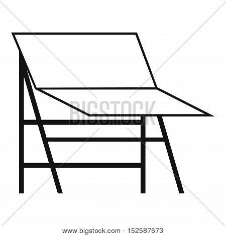 Blank portable screen icon. Simple illustration of blank portable screen vector icon for web