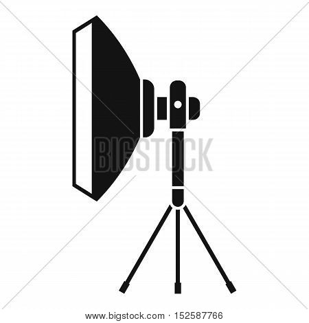 Studio lighting equipment icon. Simple illustration of studio lighting equipment vector icon for web