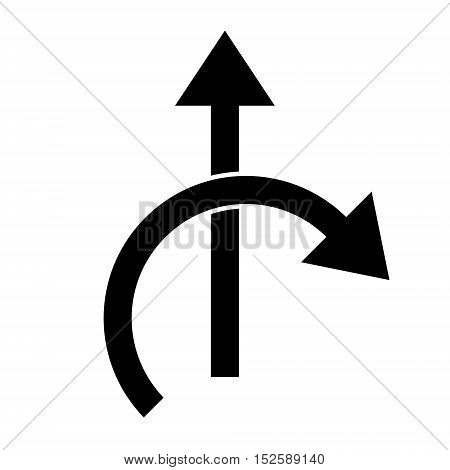 Two side arrow icon vector. White background