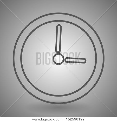 watch linear icon vector illustration on gray background.