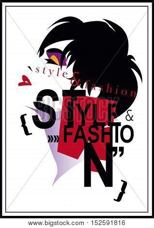 Fashion girl in style pop art. Vector illustration
