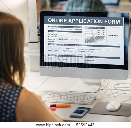 Online Application Form Document Recruitment Concept