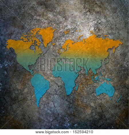 Map. World map